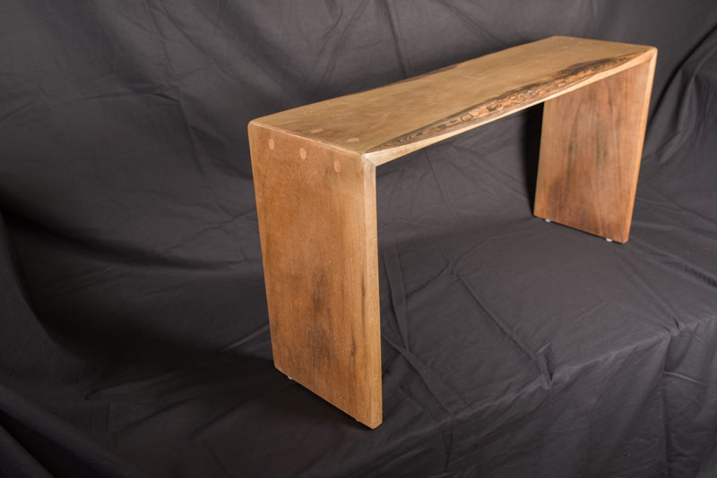Doweled Bench, Black Walnut with Hand Rubbed Wax Finish