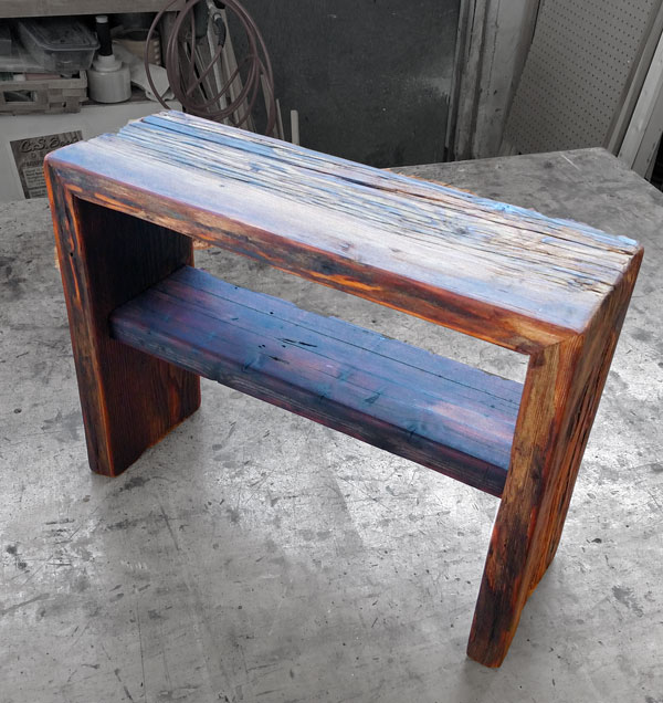 Shelf Bench, Reclaimed Douglas Fir